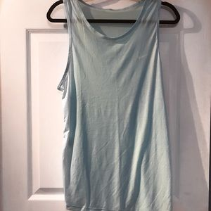 DRY FIT Baby blue mesh back tank top